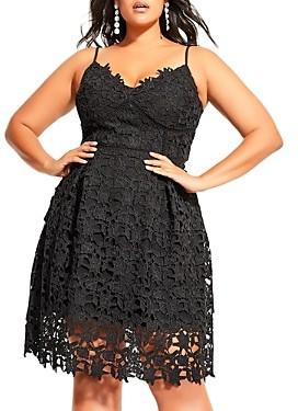 City Chic Plus Sleeveless Lace Dress