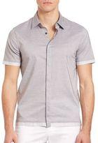 Emporio Armani Short-Sleeve Cotton Shirt