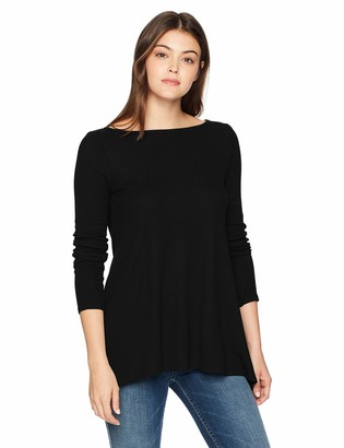 Three Dots Women's Mini Thermal Loose Long Shirt