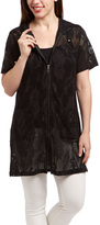 Club Z Black Lace Zip-Up Tunic