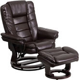 Asstd National Brand Leather Pad-Arm Recliner