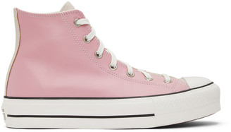Converse Pink and Beige Chuck Taylor All Star Lift Sneakers