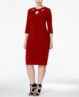 INC International Concepts Plus Size Cutout Sheath Dress, Only at Macy's