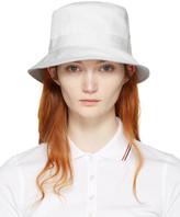 Thom Browne White Bucket Hat