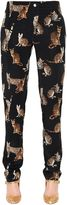 Dolce & Gabbana Zambia Print Silk Crepe De Chine Pants