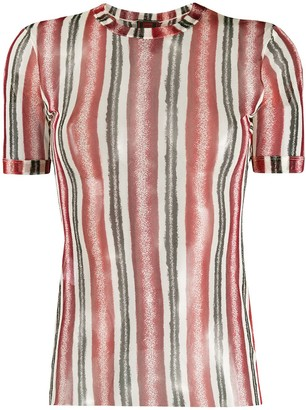 Jean Paul Gaultier Pre-Owned 1990s sheer striped T-shirt