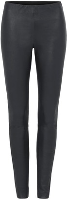 West 14th West Broadway Leather Leggings Charcoal
