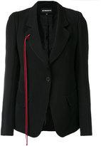 Ann Demeulemeester red tie detail blazer
