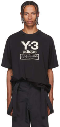 Y-3 Black Stacked Logo T-Shirt