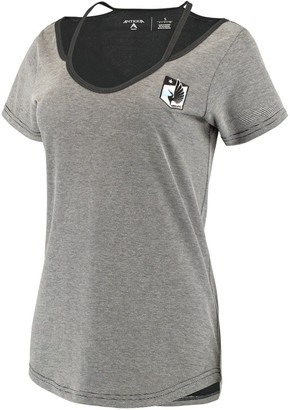 Antigua Women's Black/Gray Minnesota United FC Hitter Cut Out T-Shirt