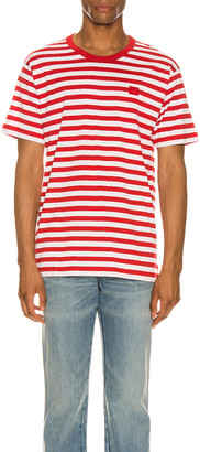 Acne Studios Striped Tee in Cherry Red | FWRD