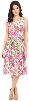 Christin Michaels Myrcella Sleeveless Floral Dress with Belt