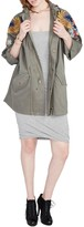 Rachel Roy Fish Embroidered Parka