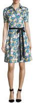Carolina Herrera Daisy-Print Short-Sleeve Shirtdress