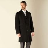 Karl Jackson Black Plain 3 Button Regular Fit Coat