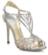 Rene Caovilla Geometric Strass Leather Sandals