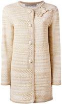 Ermanno Scervino bow detail cardi-coat - women - Cotton/Polyamide/Viscose - 42