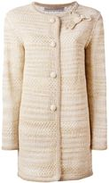 Ermanno Scervino bow detail cardi-coat