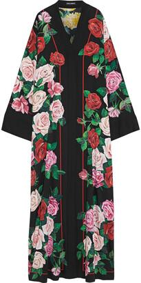 Dolce & Gabbana Floral-print Silk-blend Crepe De Chine Kimono