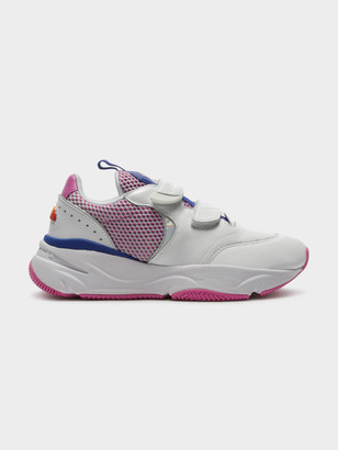 Ellesse Cesana Velcro Sneakers in White Bold Blue Super Pink