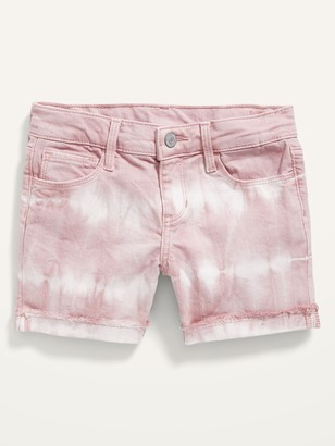 Old Navy Tie-Dye Frayed-Hem Jean Midi Shorts for Girls