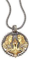 Konstantino Zodiac 18K Gold, Sterling Silver & Diamond Pendant