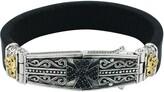 Konstantino Maltese Cross Leather Bracelet