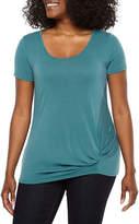 A.N.A Soft Knit Short Sleeve Scoop Neck T-Shirt-Womens Petites