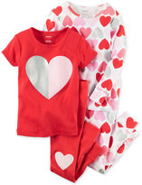 Carter's 4-Pc. Hearts Pajama Set, Baby Girls (0-24 months)