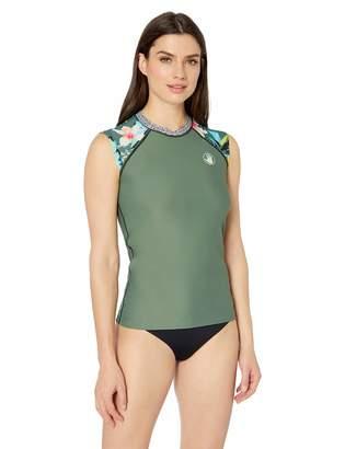 Body Glove Women's Exhale Cap Sleeve Zip Front Rashguard with UPF 50+ Rash Guard Shirt