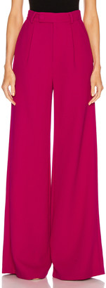Rebecca De Ravenel Wide Leg Trouser in Magenta | FWRD