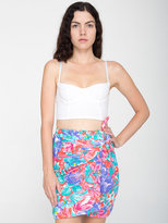 American Apparel Vintage Floral Wrap Mini Skirt