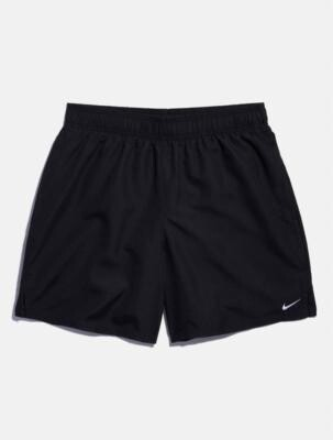 Nike Solid Black Swim Shorts - Black S at Urban Outfitters