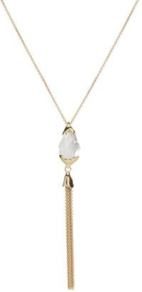 Alexis Bittar 10K Goldplated & Encased Pebble Tassel Pendant Necklace