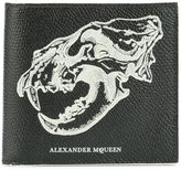 Alexander McQueen lion skull billfold wallet