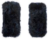 Barneys New York Women's Fur Hand Warmers-NAVY