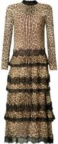 RED Valentino leopard print ruffled dress - women - Silk - 38