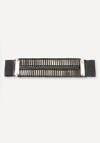 Bebe Wrapped Metal Plate Belt