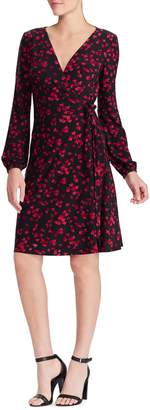 Chaps Floral-Print Long-Sleeve Dress