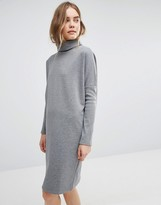 Warehouse Roll Neck Sweater Dress