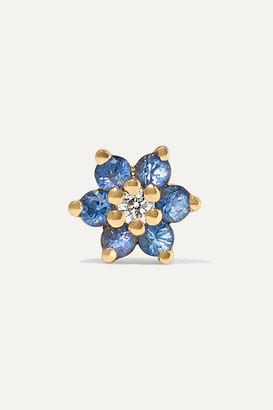 Maria Tash 4.5mm 18-karat Gold, Sapphire And Diamond Earring