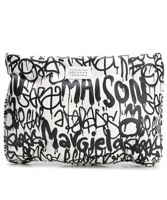 Maison Margiela Graffiti Print Clutch Bag