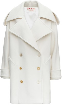 Marni Double-breasted Oversize Wool Coat