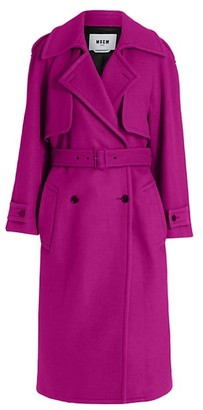 MSGM Stretch-Wool Trench Coat