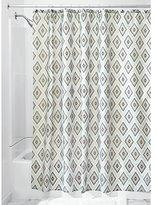 InterDesign Levi Fabric Shower Curtain, 70 x 72, Ice/Taupe
