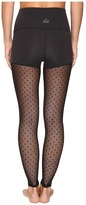 Beyond Yoga Polka Dot Mesh Back High Waist Leggings