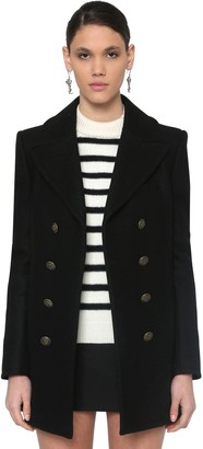 Saint Laurent DOUBLE BREASTED WOOL PEA COAT