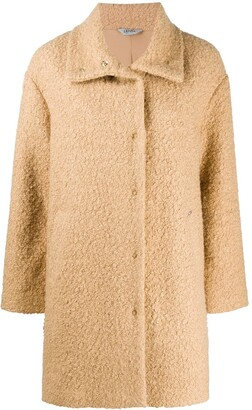 Liu Jo Button-Up Faux Fur Coat