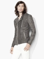 John Varvatos Linen Hemp Moto Jacket