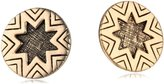 House Of Harlow Yellow Gold Engraved Sunburst Stud Earrings
